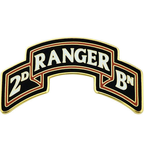 Army Combat Service Identification Badge (CSIB): 2nd Ranger Battalion Scroll