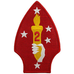 Marine Corps Shoulder Patch: Second Division - color