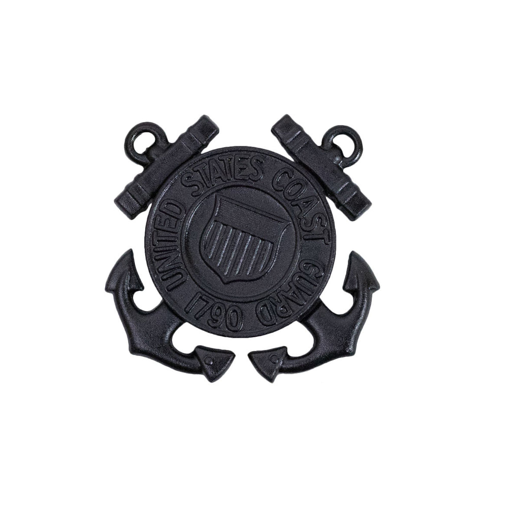 Coast Guard Cap Device: Enlisted - miniature black metal