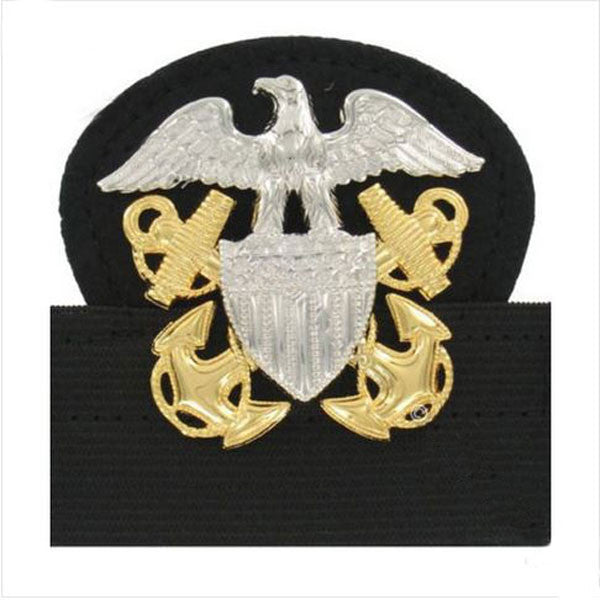 Navy Cap Device: Officer - mounted