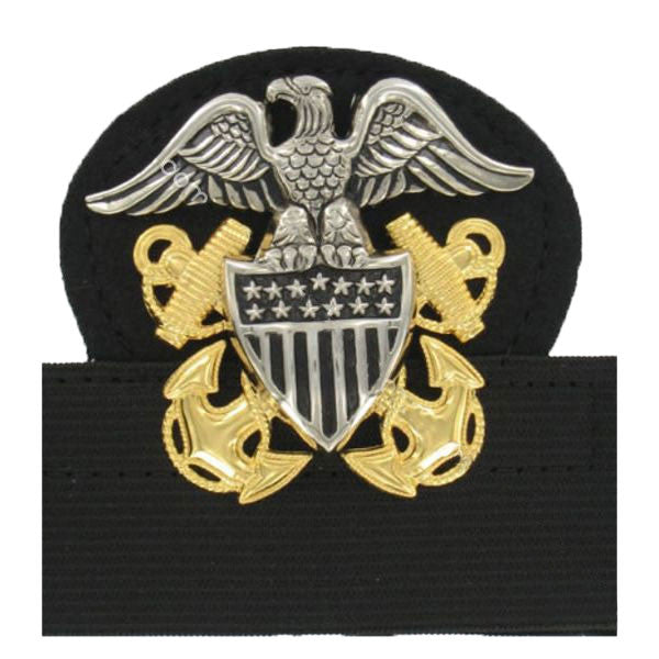 Navy Cap Device: Officer High Relief - mounted