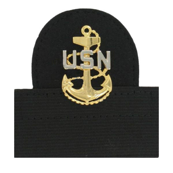 Navy Cap Device: E7 Chief Petty Officer - mounted