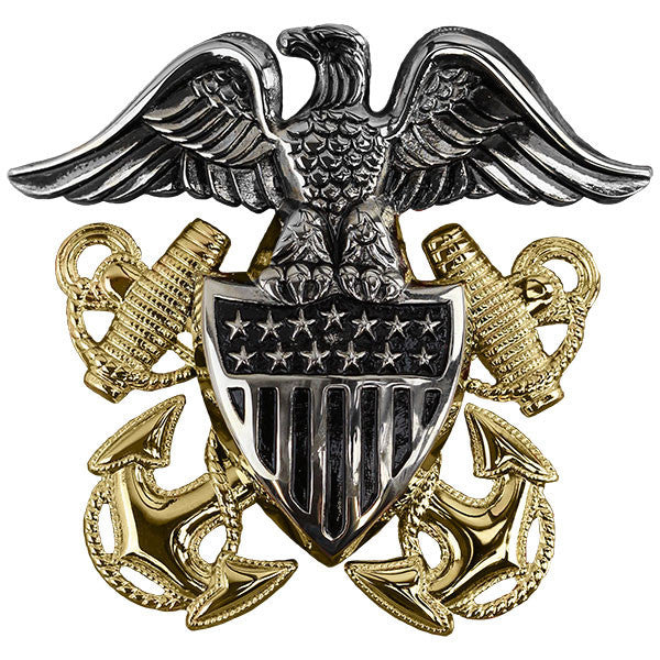 Navy Cap Device: Officer High Relief - regulation size