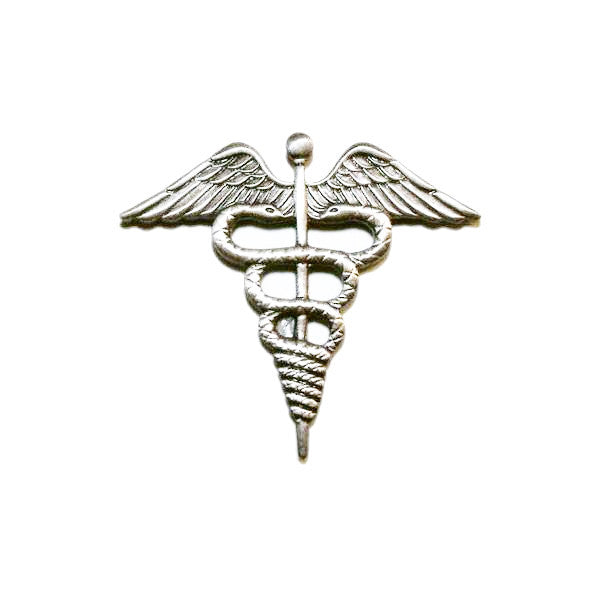 Navy Ball Cap Device: Mirror Finish Hospital Corpsman