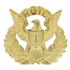 Army ROTC Cap Device: Female Officer Wreath - gold with eagle