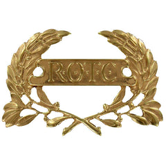 Army ROTC Cap Device: Enlisted Wreath - brass