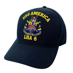 Navy Ball Cap: USS America LHA 6 Command