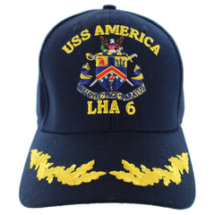 Navy Ball Cap: USS America LHA 6 Command with single eggs