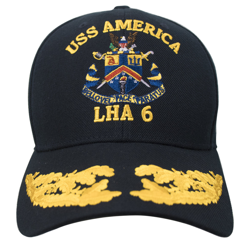Navy Ball Cap: USS America LHA 6 Command with double eggs