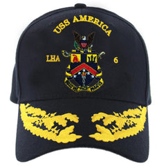 Navy Ball Cap: USS America LHA 6 with double eggs