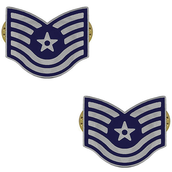 Air Force Metal Chevron: Technical Sergeant
