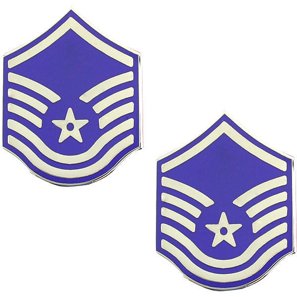 Air Force Metal Chevron: Master Sergeant