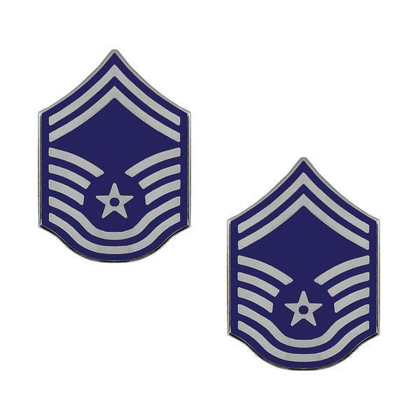 Air Force Metal Chevron: Senior Master Sergeant