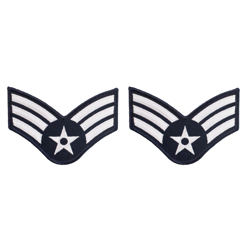 Air Force Embroidered Chevron: Airman: Senior - large color