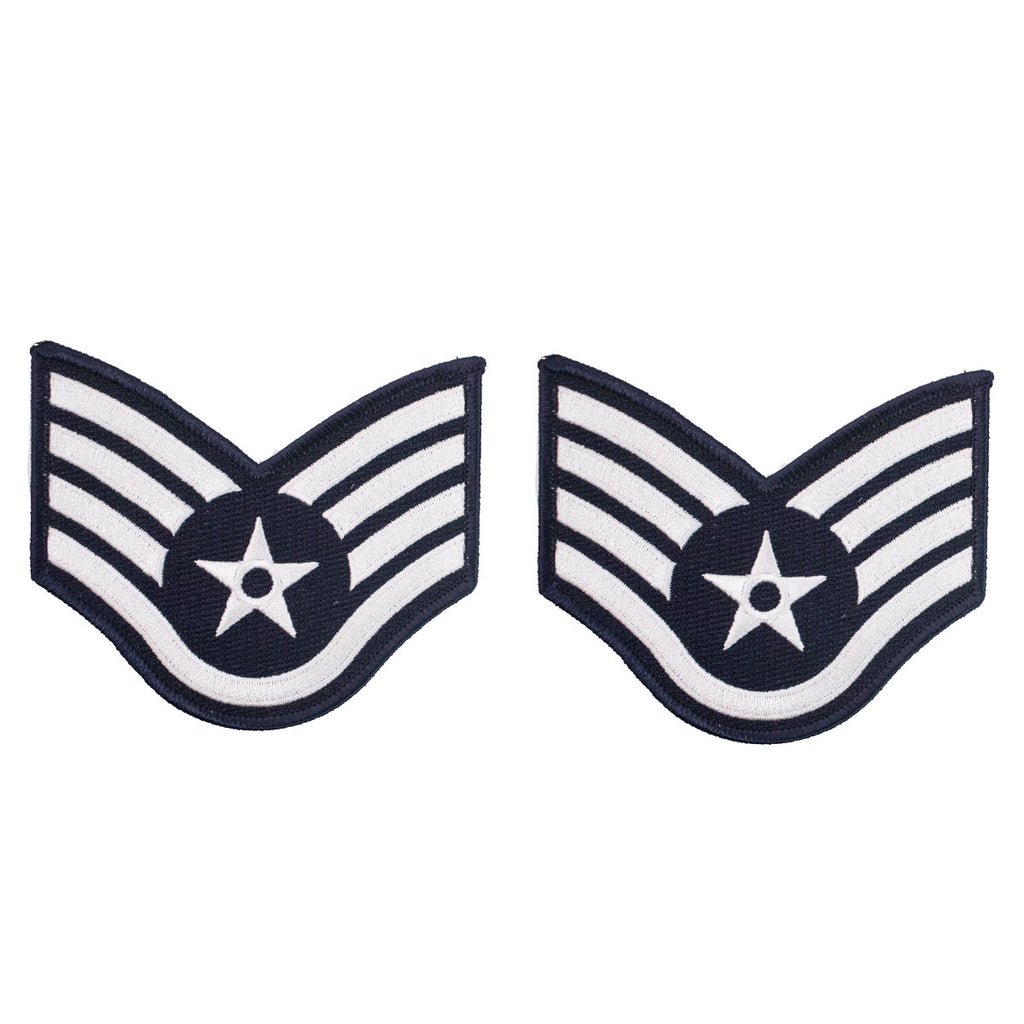 Air Force Embroidered Chevron: Staff Sergeant - large color