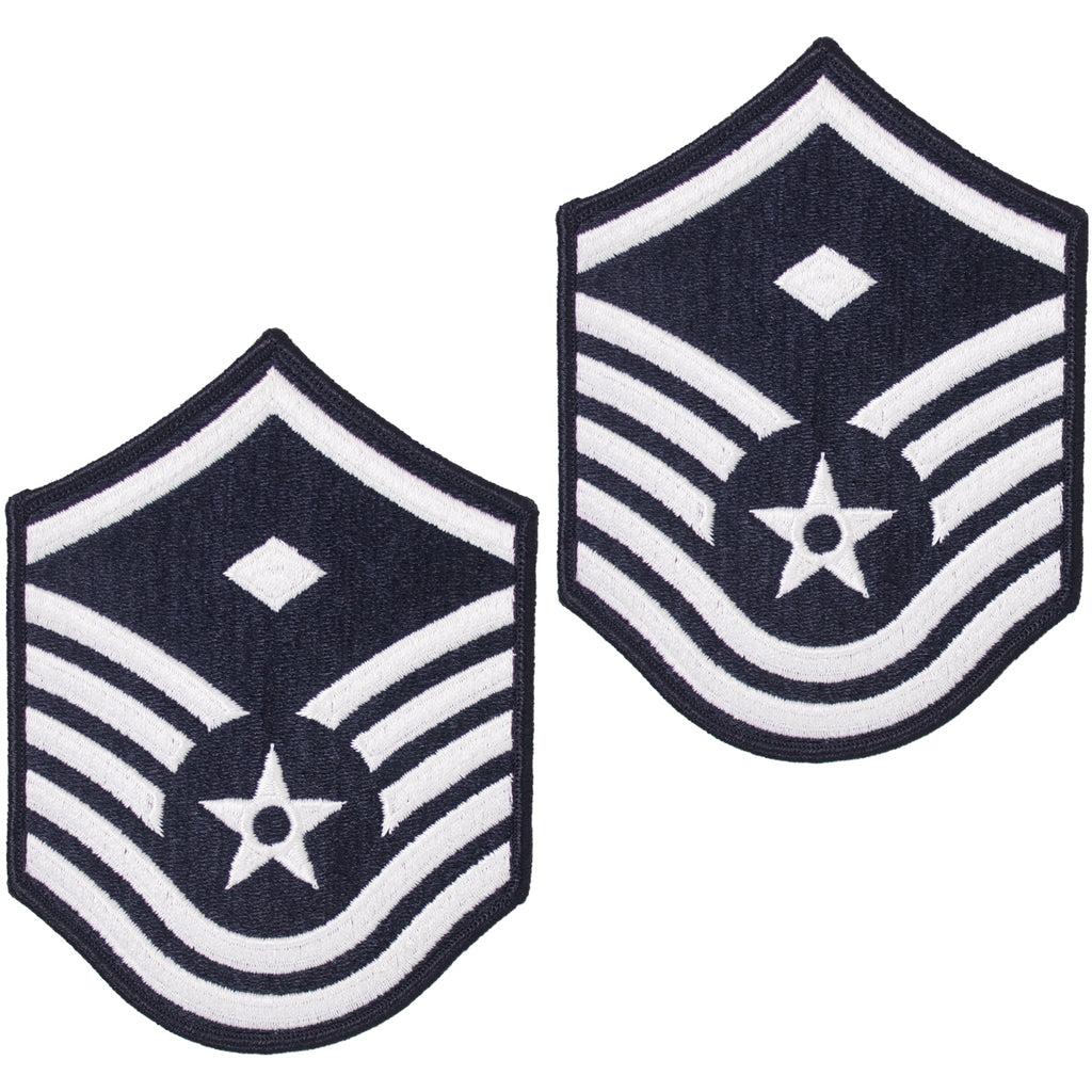 Air Force Embroidered Chevron: Master Sergeant: 1st Sgt - large color