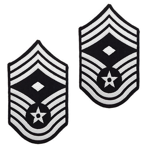 Air Force Chevron: Chief Master Sergeant: 1st Sgt - small color