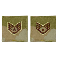 Air Force Embroidered Rank: Staff Sergeant - OCP with hook