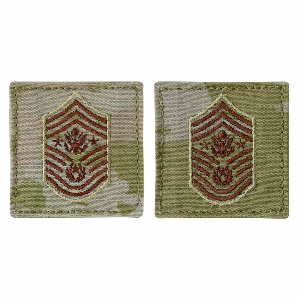 Air Force Embroidered Rank: Chief Master Sergeant of the Air Force - OCP with hook