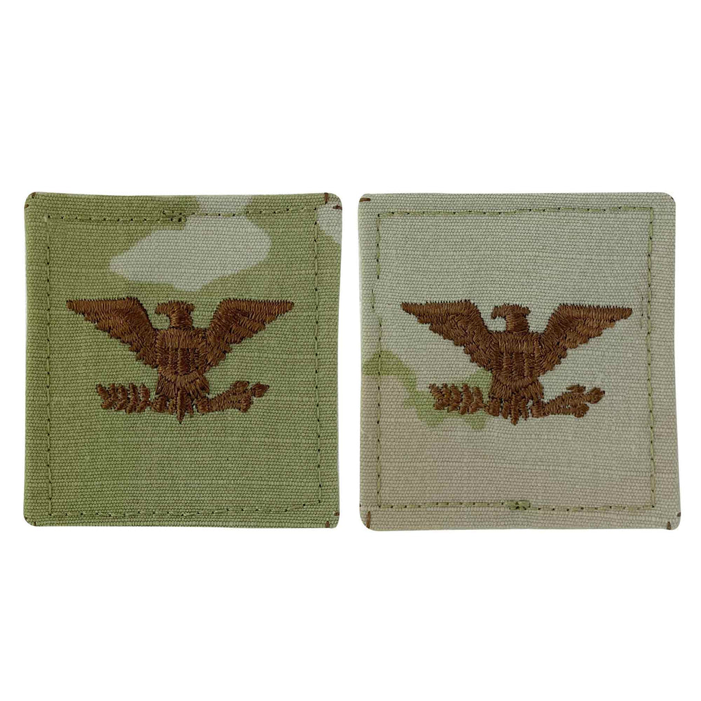 Air Force Embroidered OCP with Hook Officer Rank Insignia: Colonel