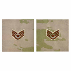 Air Force Embroidered Rank: Staff Sergeant - OCP Sew on