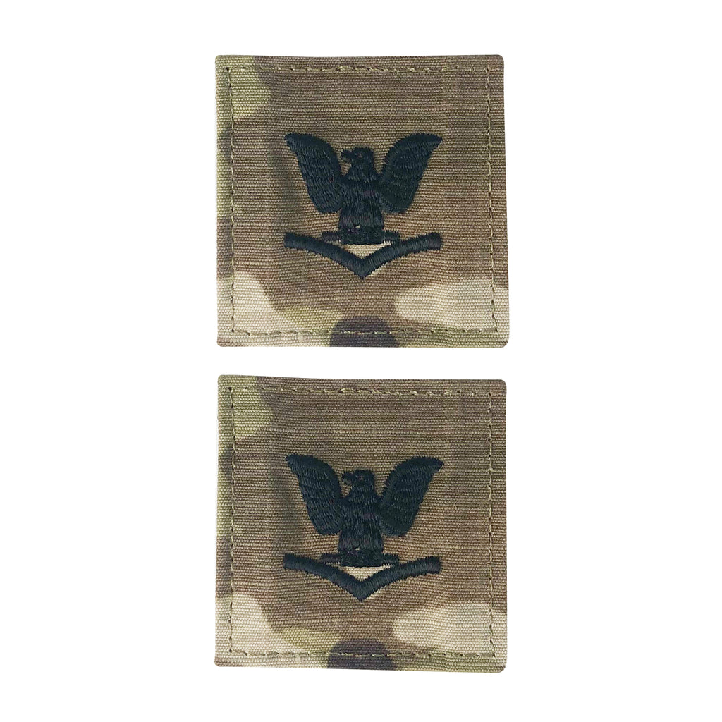 Navy Embroidered OCP with Hook: E4 Petty Officer 3rd Class PO3