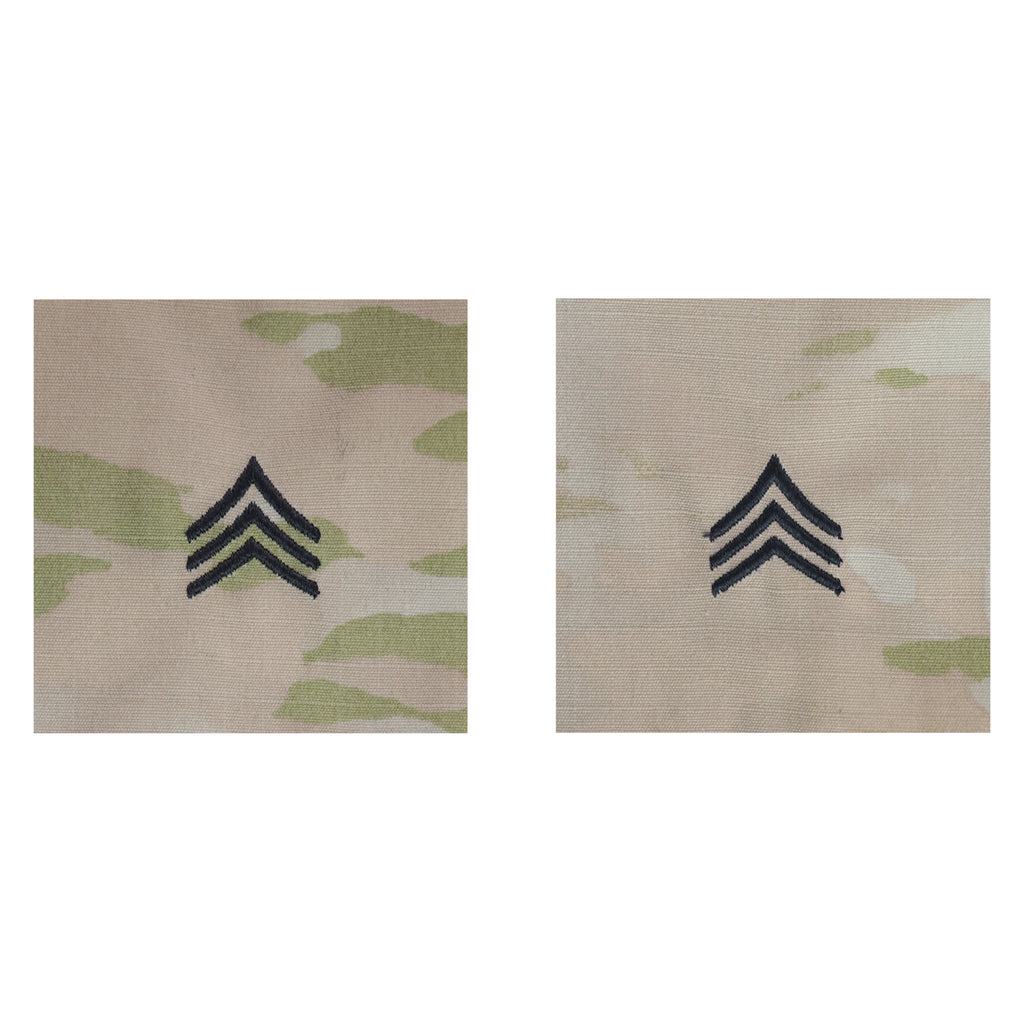 Army Embroidered OCP Sew on Rank Insignia: Sergeant