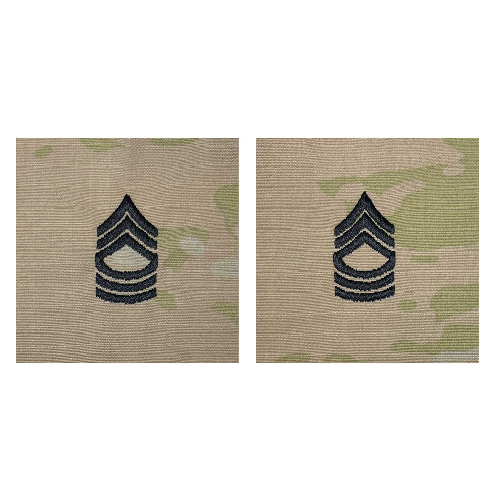 Army Embroidered OCP Sew on Rank Insignia: Master Sergeant