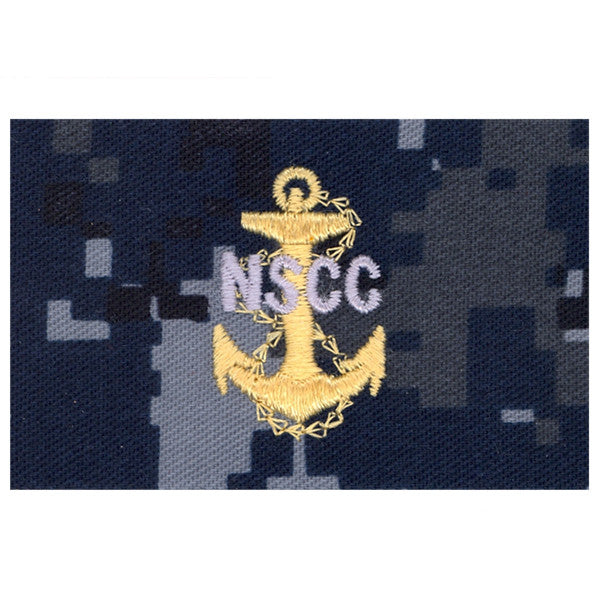 USNSCC - CPO Collar Device on Blue Digital Embroidery