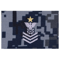 NLCC - Ships Leading Petty Officer Collar Device on Blue Digital Embroidered