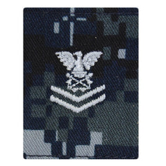 USNSCC / NLCC - PO2 with (2 Stripes) Parka Tab Blue Digital Embroidered