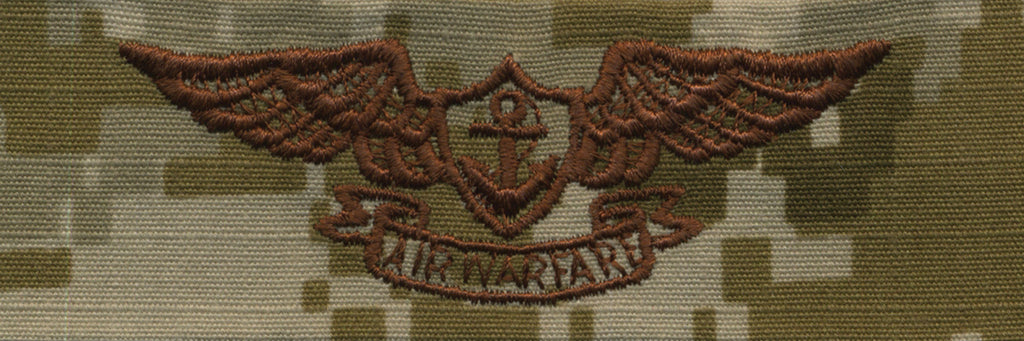 Navy Embroidered Badge: Aviation Warfare - Desert Digital