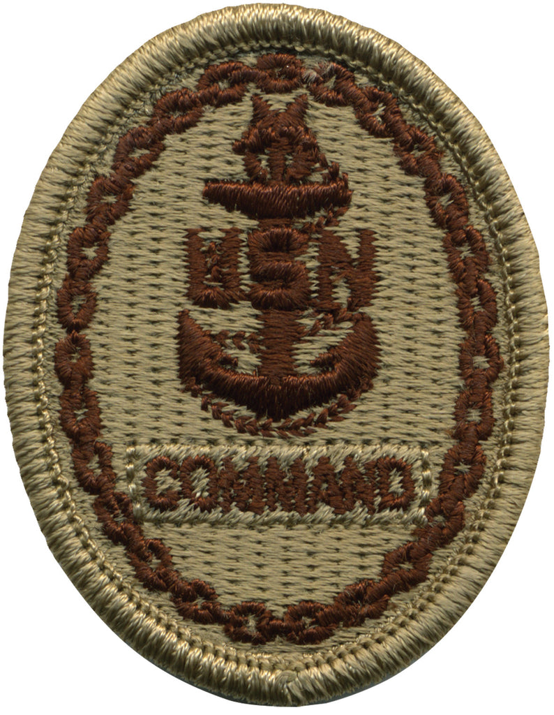 Navy Embroidered Badge: Command E-8 - Desert Digital