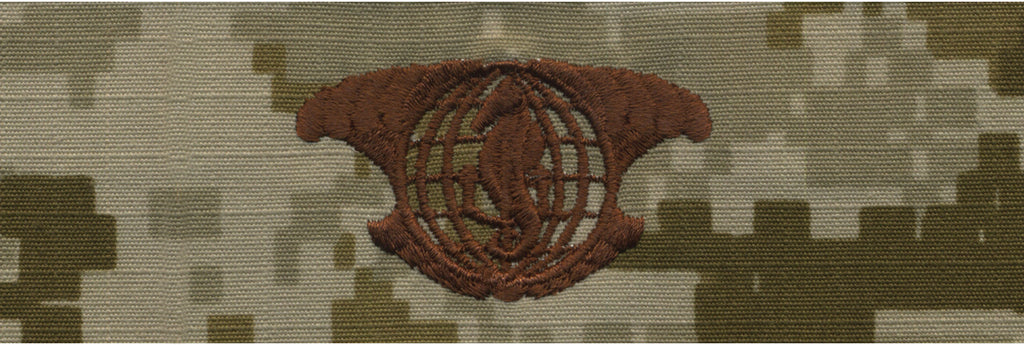Navy Embroidered Badge: I.U.S.S.  - Desert Digital