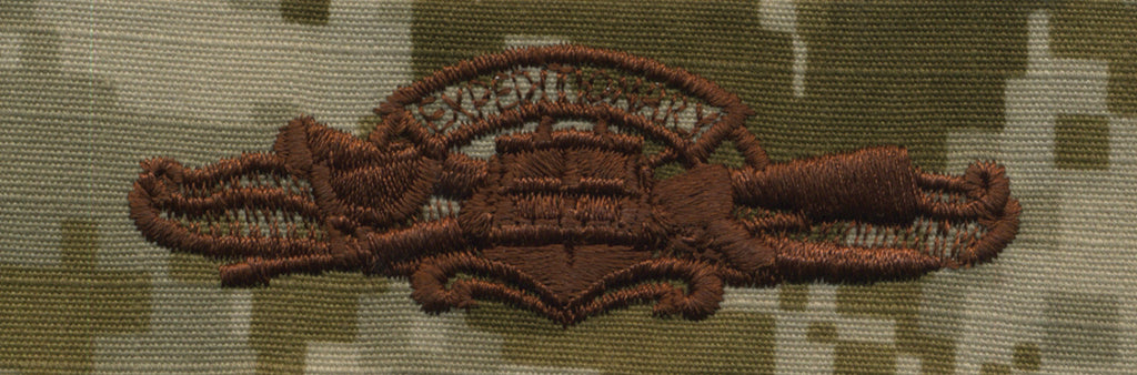 Navy Embroidered Badge: Expeditionary Warfare - Desert Digital