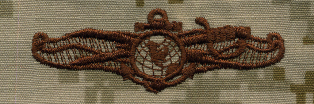 Navy Embroidered Badge: Information Dominance Warfare Officer - Desert Digital