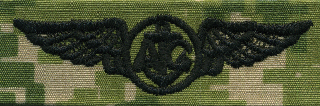 Navy Embroidered Badge: Aircrew - Woodland Digital