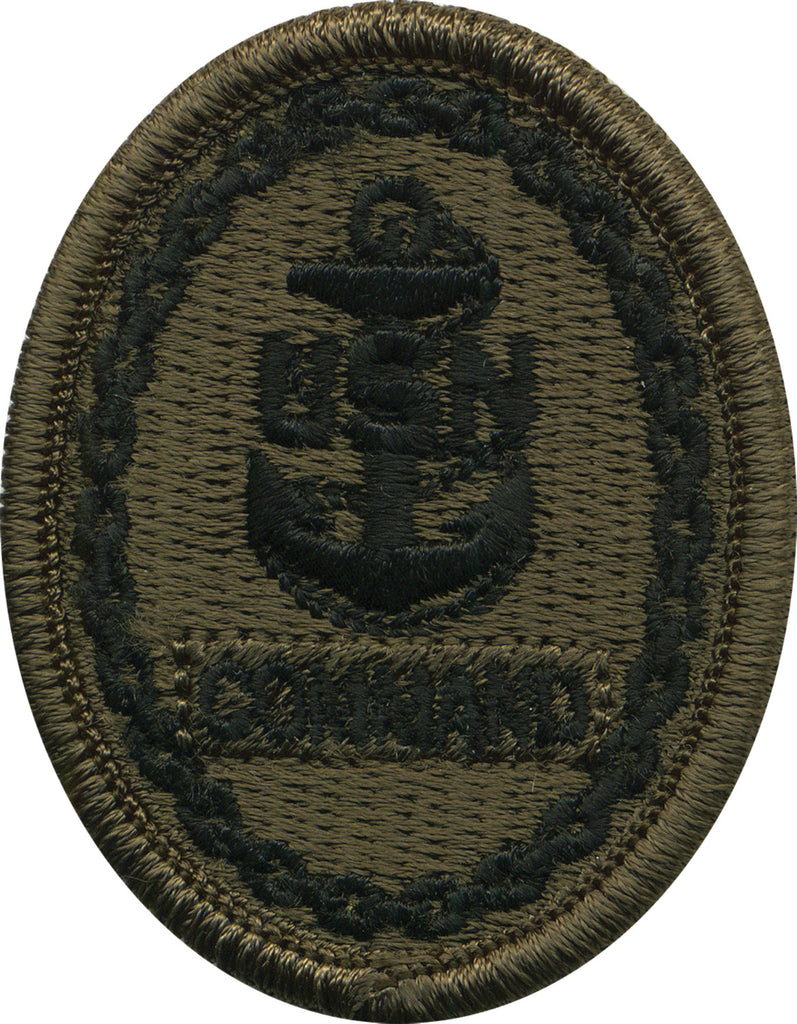 Navy Embroidered Badge: Command E-7 - Woodland Digital
