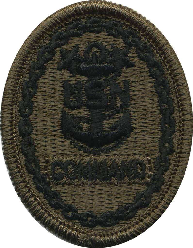 Navy Embroidered Badge: Command E-9 - Woodland Digital