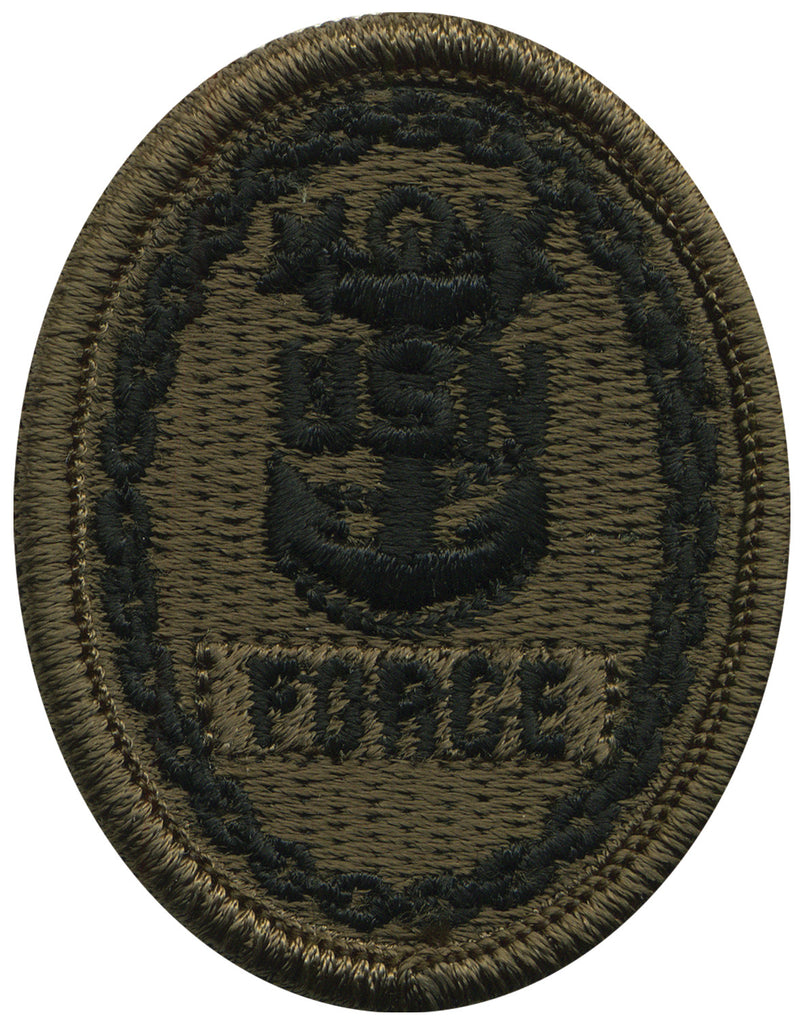 Navy Embroidered Badge: Force E-9 - Woodland Digital