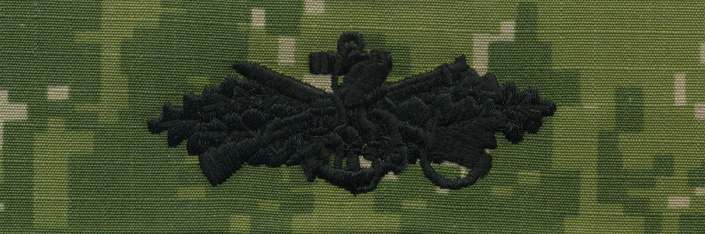 Navy Embroidered Badge: Seabee Combat Warfare - Woodland Digital