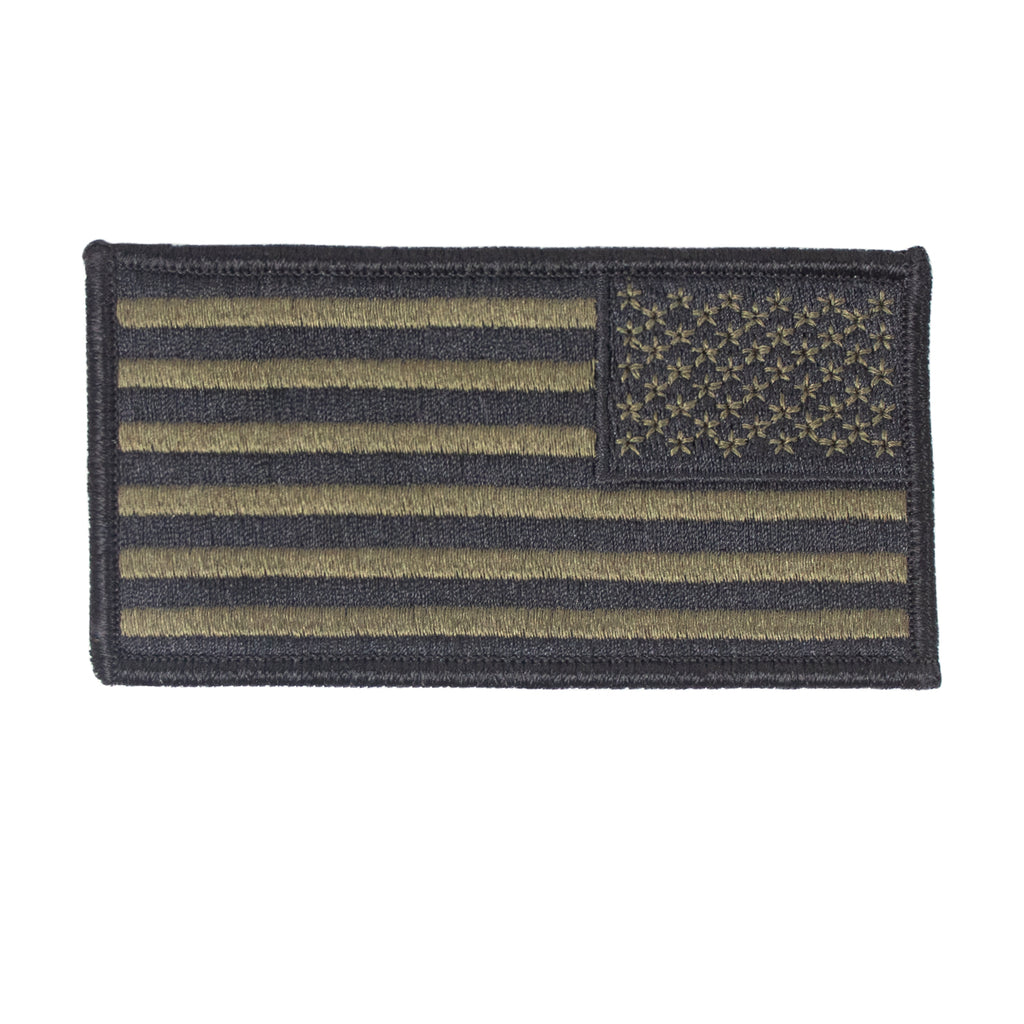 Flag Patch: U.S. Flag Reverse Field - Embroidered Woodland Digital NWUIII
