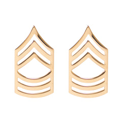 Army Chevron: Master Sergeant - 22k gold plated