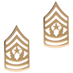 Army Chevron: Command Sergeant Major - 22k gold plated