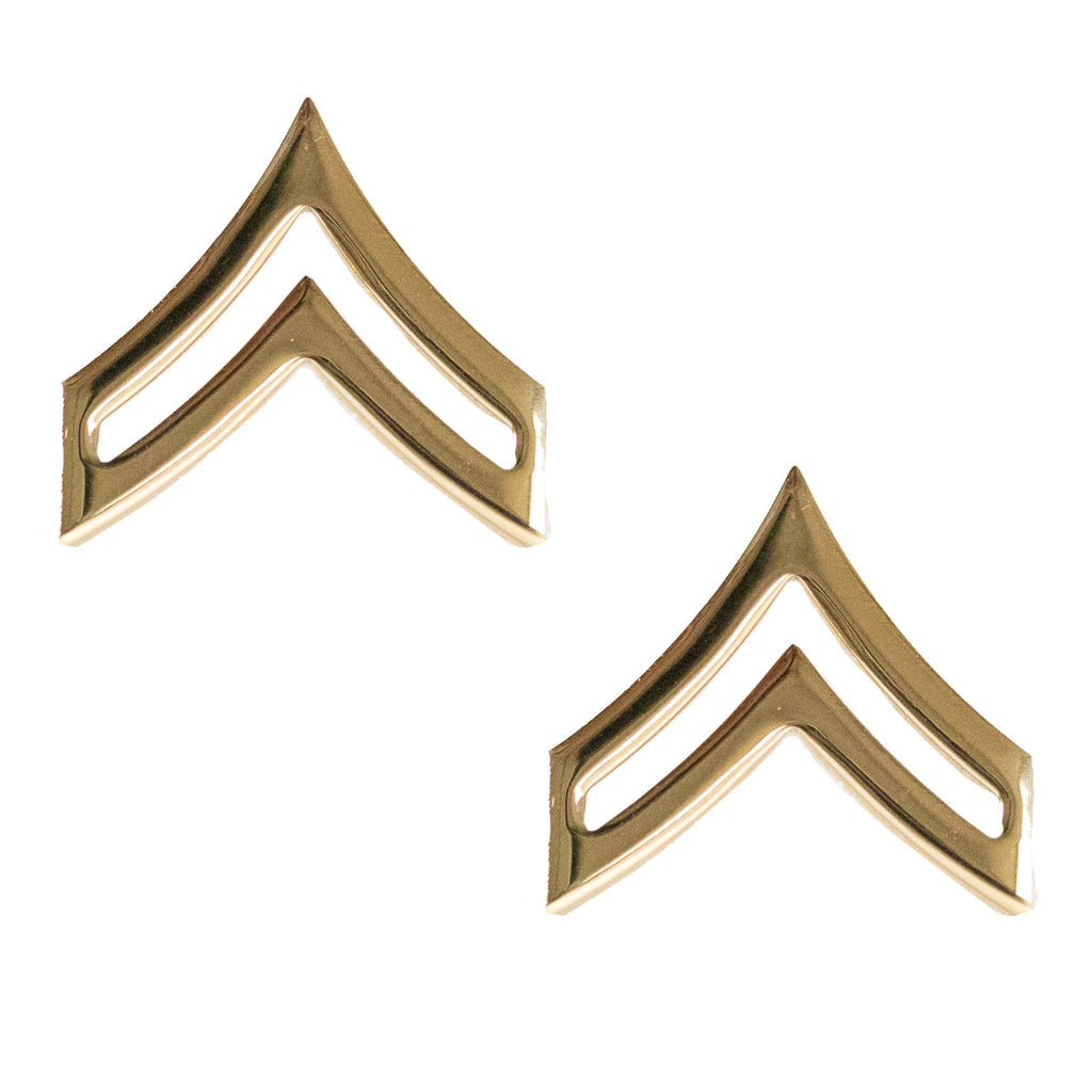 Army Chevron: Corporal - Brass metal