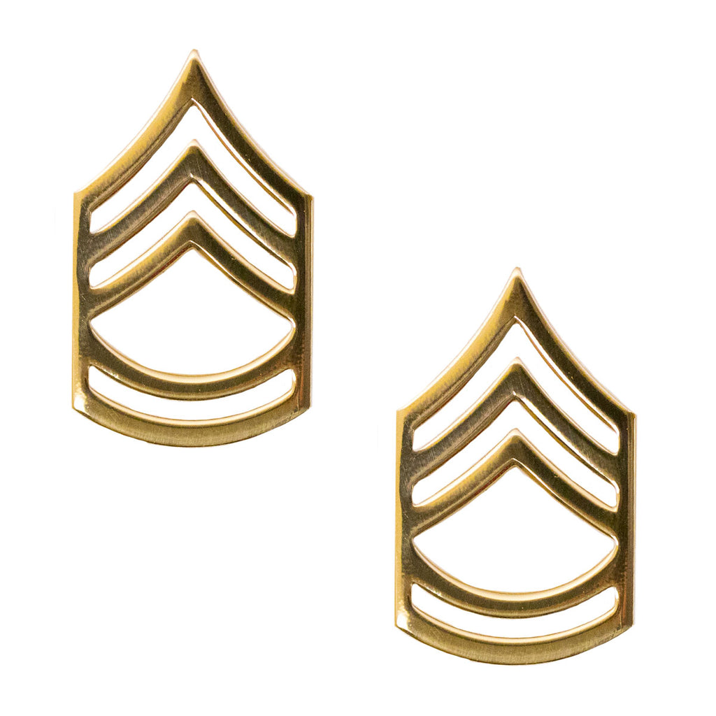 Army Chevron: Sergeant First Class - Brass metal