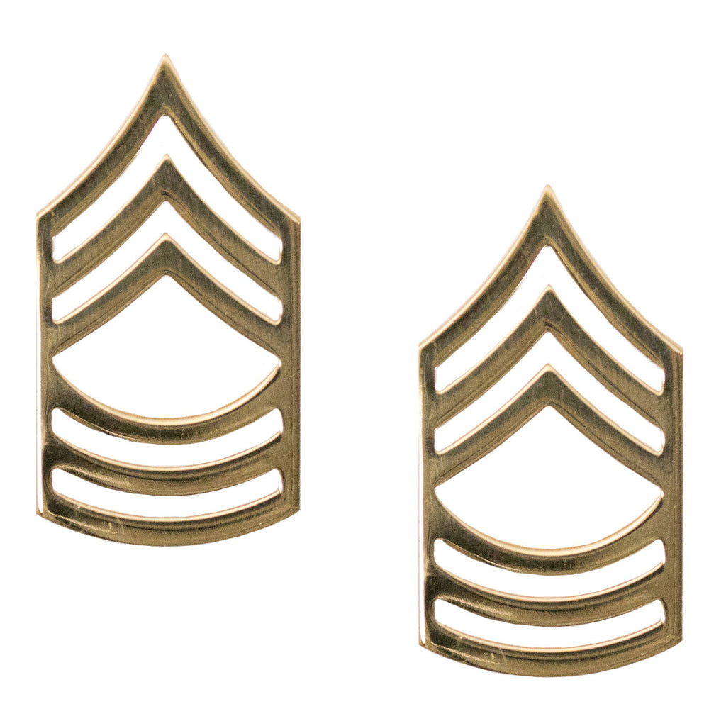 Army Chevron: Master Sergeant - Brass metal