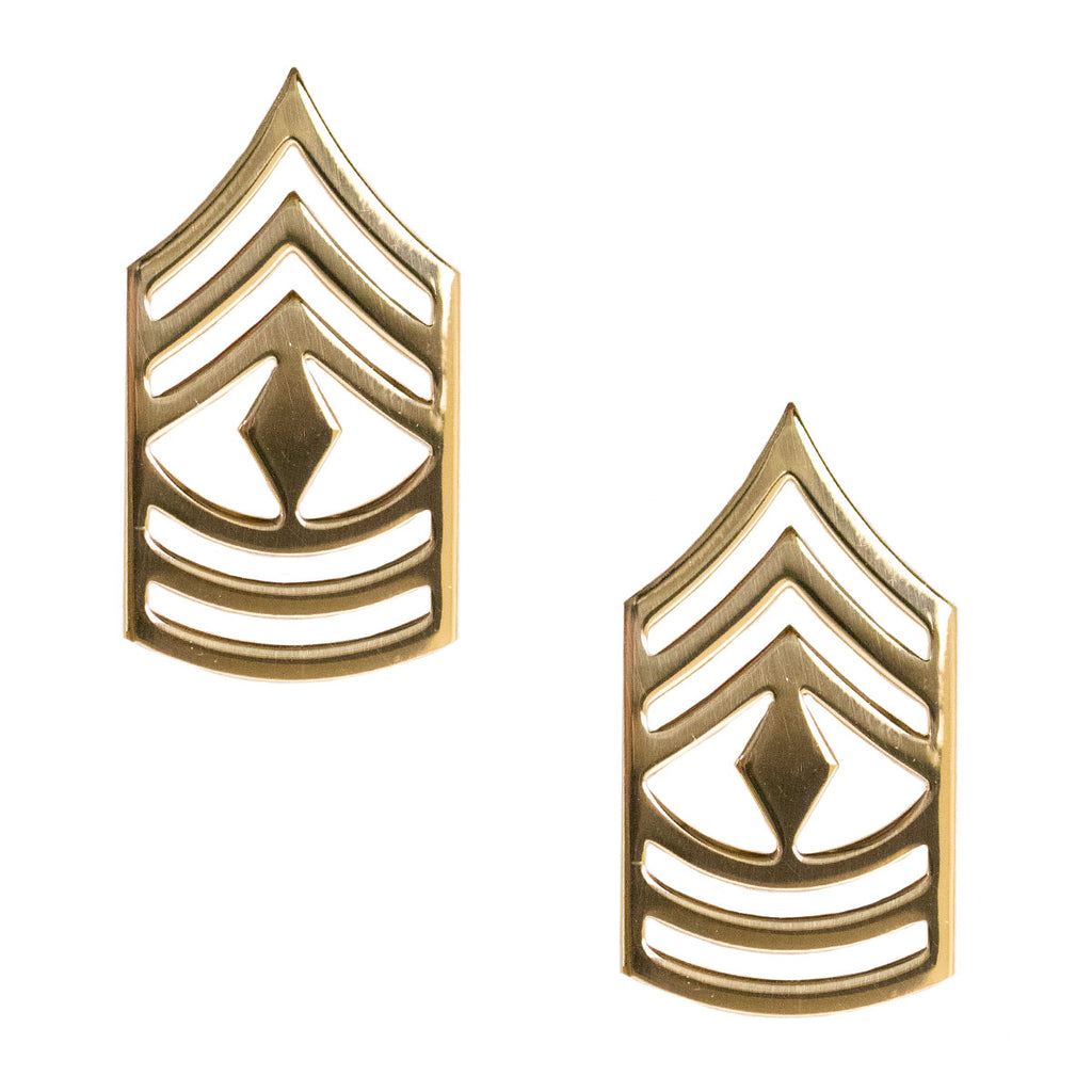 Army Chevron: First Sergeant - Brass metal