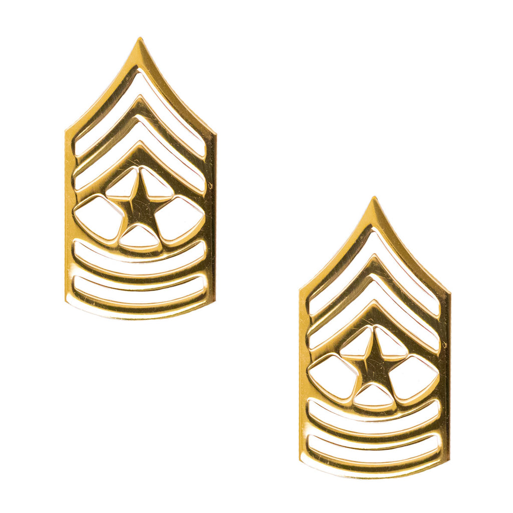 Army Chevron: Sergeant Major - Brass metal