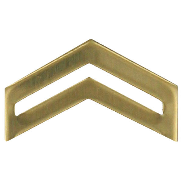Army ROTC Chevron: Corporal - brass